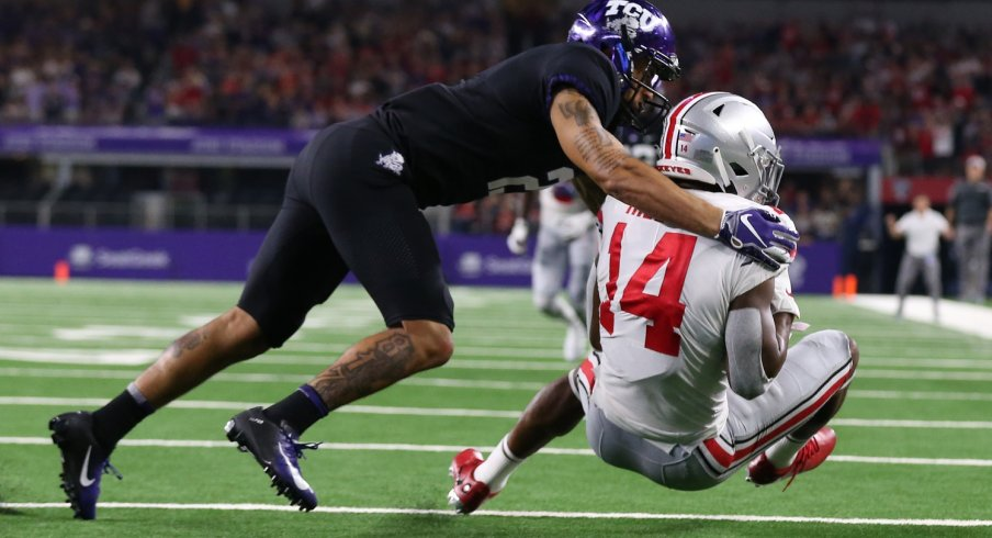 K.J. Hill had a big game out of the slot for Ohio State in its 40-28 win over TCU