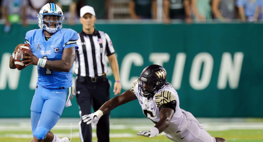 Tulane looks to throw the ball against Wake Forest