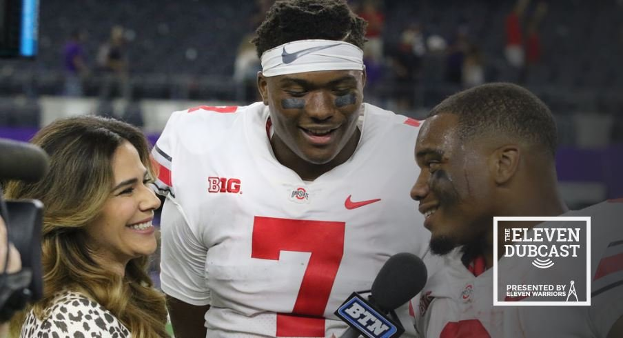 Ohio State players Dwayne Haskins and J.K. Dobbins