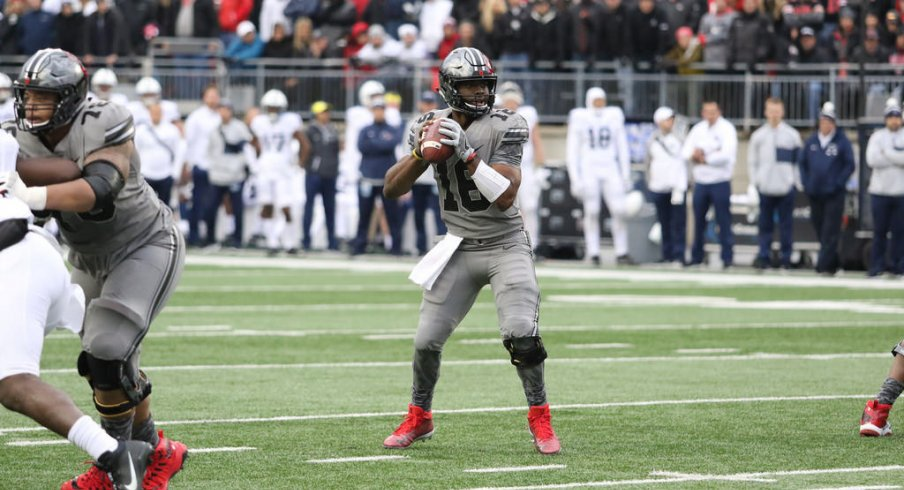 J.T. Barrett throws the go-ahead touchdown against Penn State