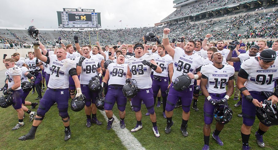 Northwestern put a damper on Michigan State's homecoming festivities.