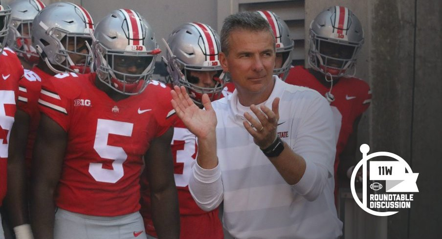 Urban Meyer's squad takes on P.J. Fleck and the Flecktones tomorrow at high noon.