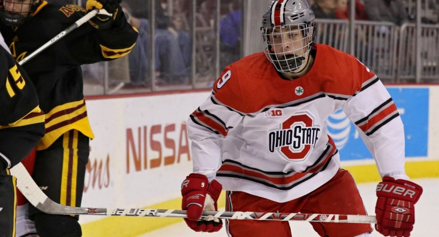 Philadelphia Flyers prospect Tanner Laczynski leads the men's hockey Buckeyes into battle against Arizona State.