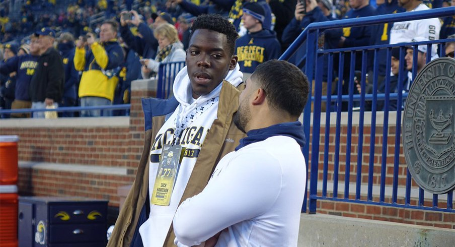 Five-star defensive end Zach Harrison was back in Ann Arbor last weekend.