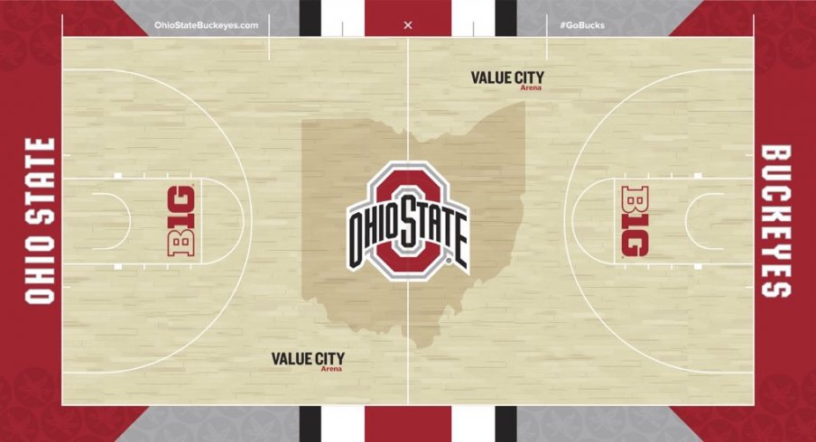 ohio state gives us a first official look at its new basketball