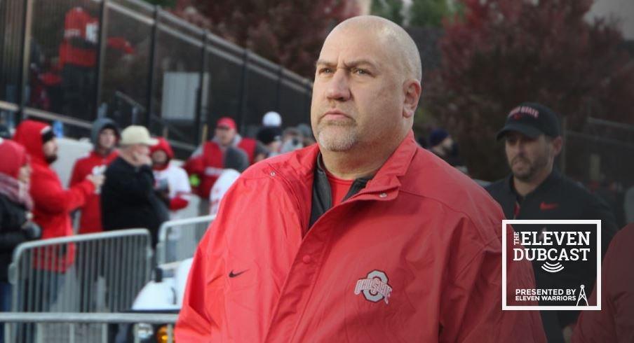 Ohio State offensive line coach Greg Studrawa