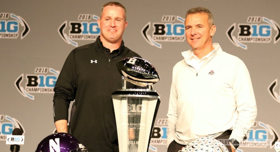 Pat Fitzgerald and Urban Meyer