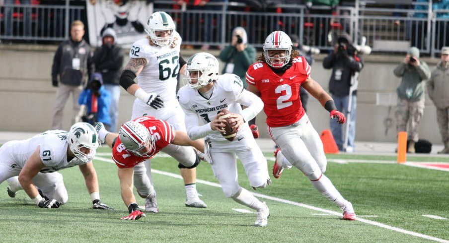 Chase Young chases Lewerke down.
