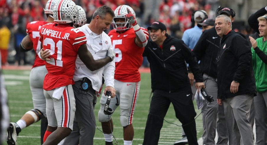 Parris Campbell and Urban Meyer