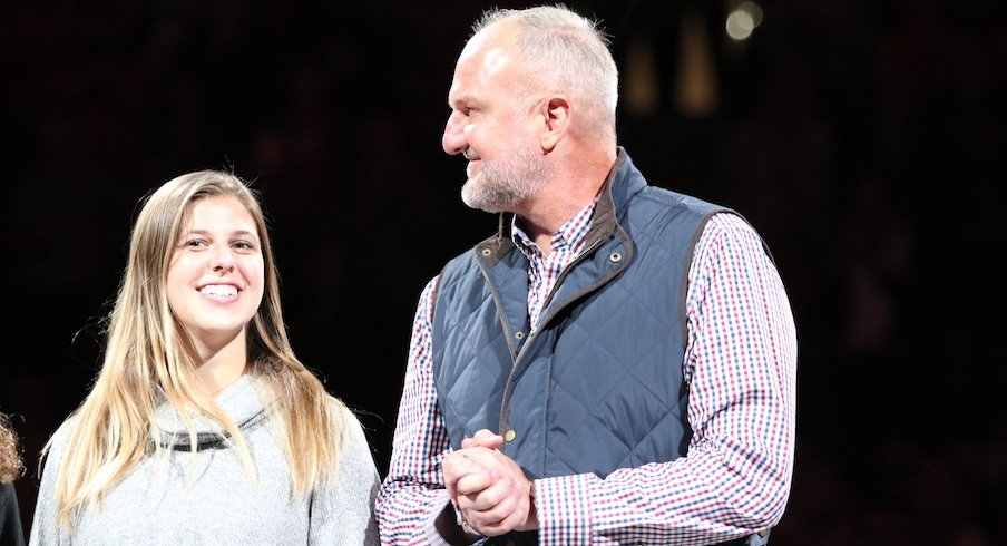 Thad Matta and his daughter
