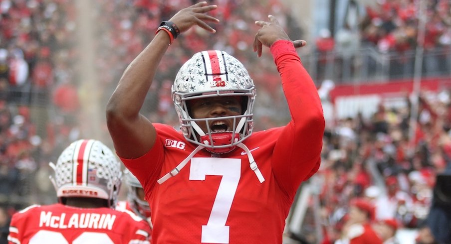 Dwayne Haskins win the silver football