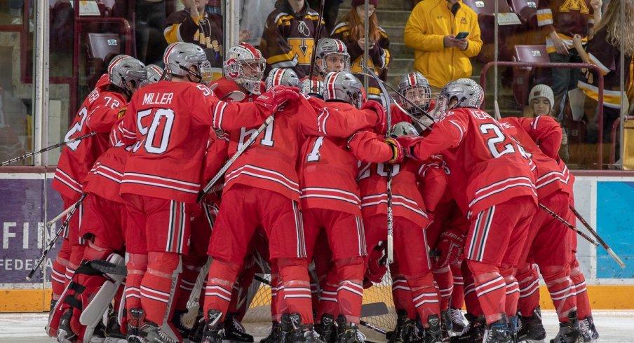BIG10: Miller's Blast Sends Men's Hockey Past Gophers In 3-on-3 OT