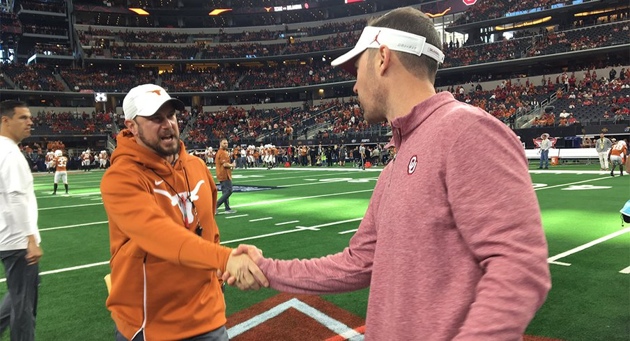 Tom Herman couldn't deliver against the Sooners in Arlington.