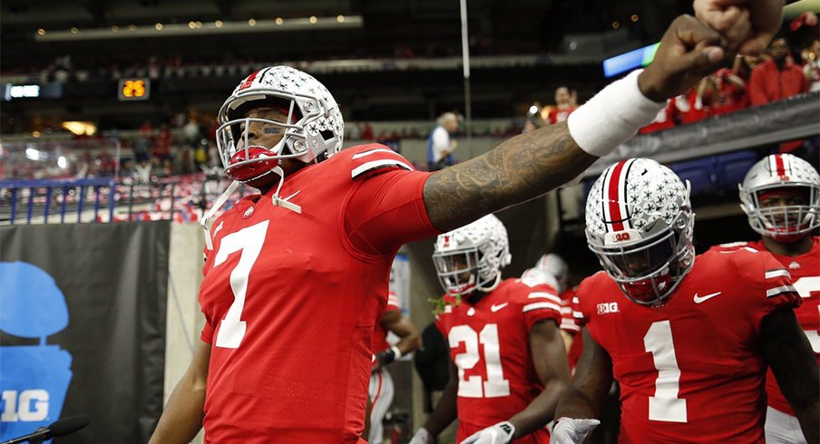 Dwayne Haskins got the scoring started Saturday night in Indy.