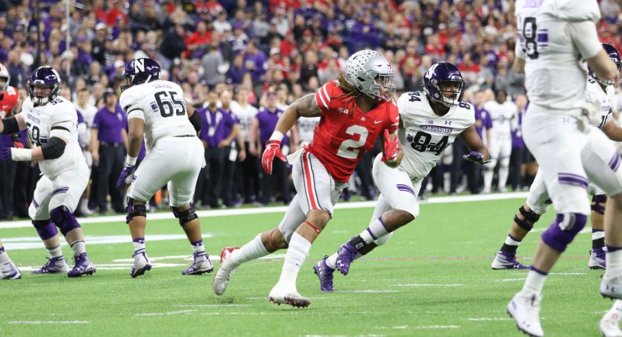 Chase Young hunts for his third sack against Northwestern