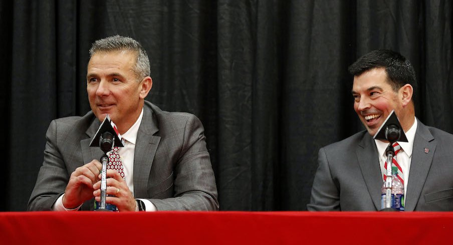 Urban Meyer and Ryan Day