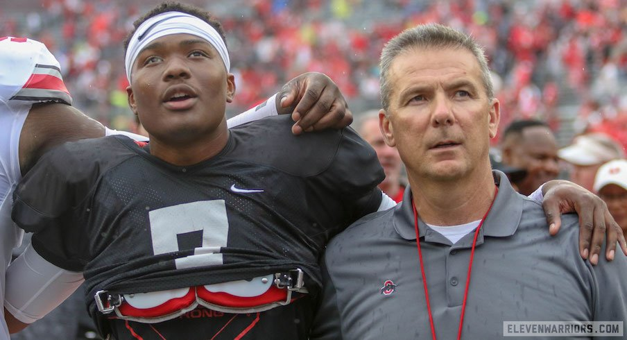 Dwayne Haskins and Urban Meyer