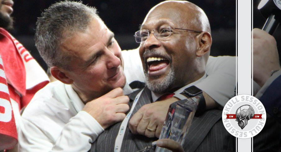 Archie Griffin and Urban Meyer seem delighted to win a Big Ten Championship in today's Skull Session.