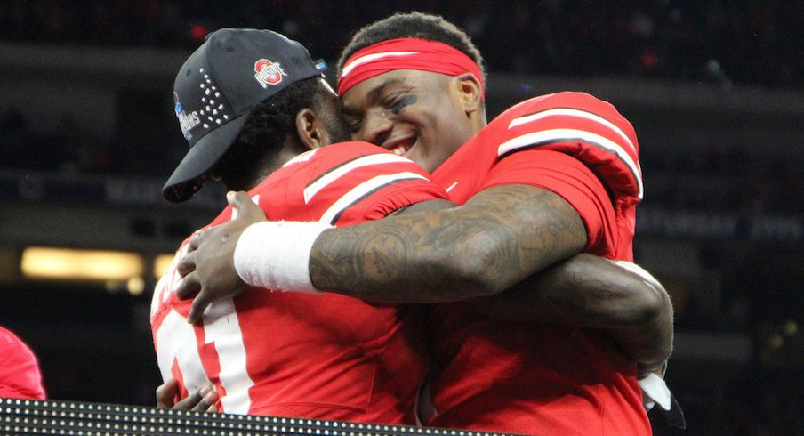 Dwayne Haskins and Parris Campbell earned player of the game honors.