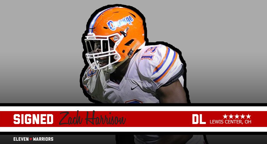 Five-star defensive end Zach Harrison is officially a Buckeye.