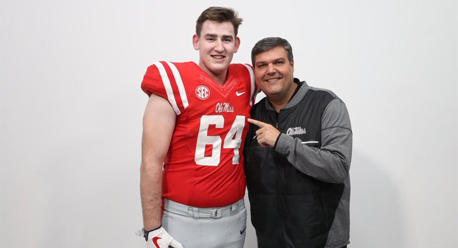 Three-star tackle Nick Broeker will stick with Ole Miss.