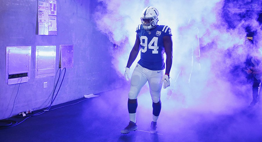 Tyquan Lewis had two sacks for the Colts Sunday.