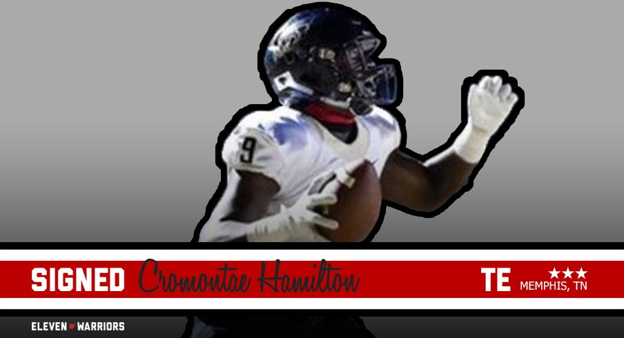 Tight end Cromontae Hamilton signs with Ohio State.