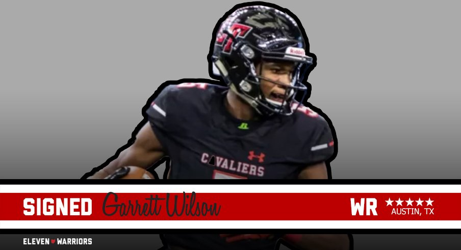 Five star wide receiver prospect Garrett Wilson signs with Ohio State.