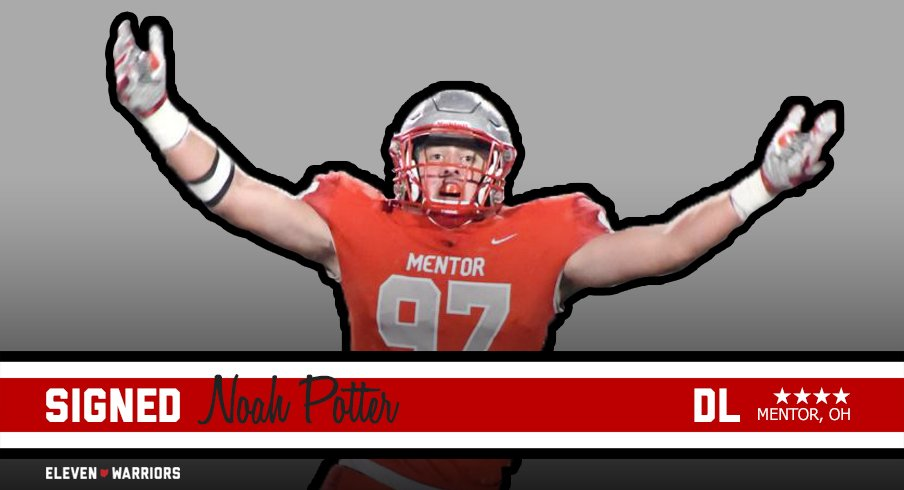 Noah Potter signs with Ohio State.