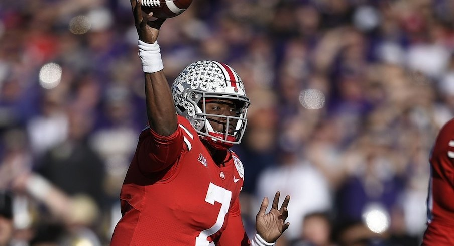Dwayne Haskins throws his 50th touchdown pass.