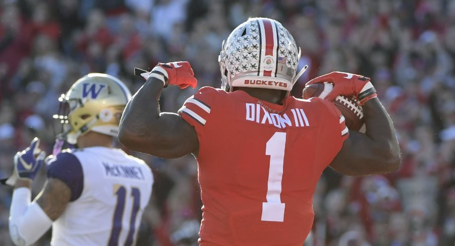 Ohio State wideout Johnnie Dixon