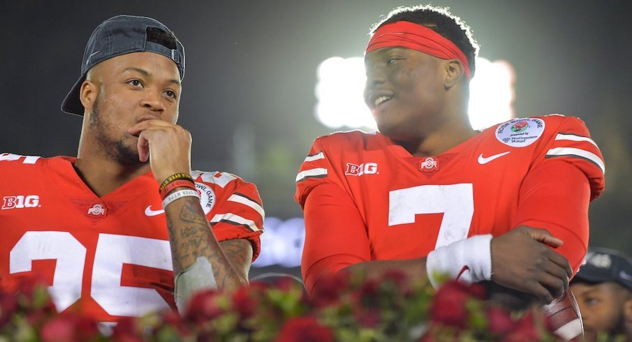 Dwayne Haskins and Brendon White