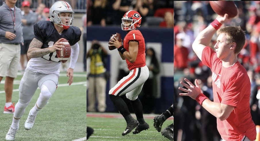 Tate Martell, Justin Fields and Matthew Baldwin