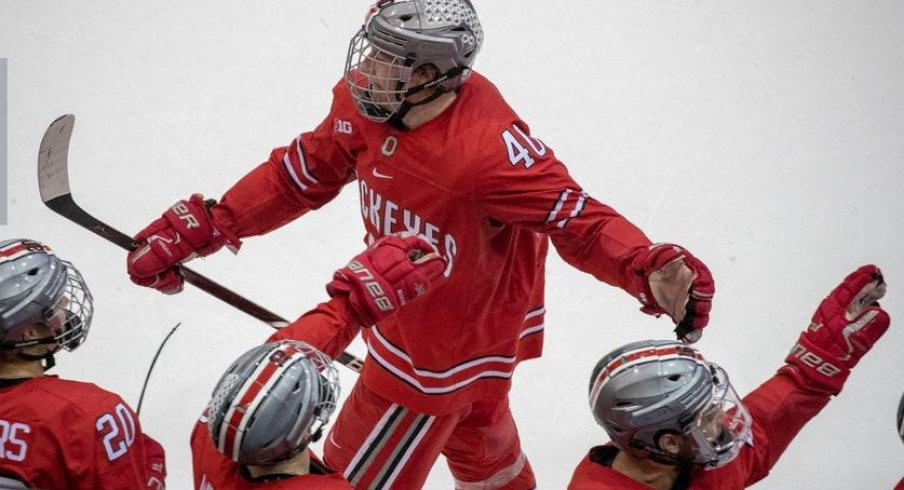 Ronnie Hein netted the game winning goal in the Buckeyes' 6-0 win over Michigan State.