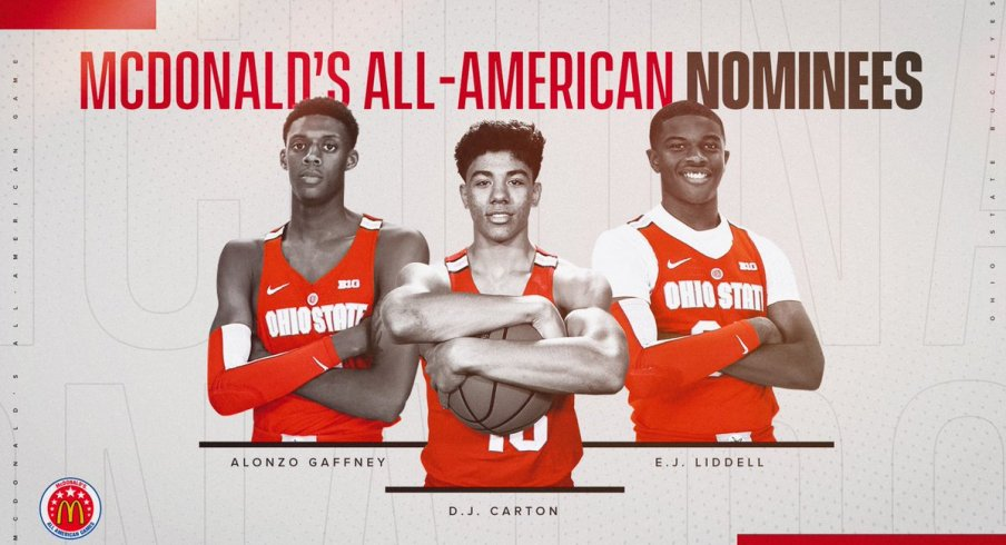 Alonzo Gaffney, D.J. Carton, and E.J. Liddell have been nominated for the McDonald's All-American game.