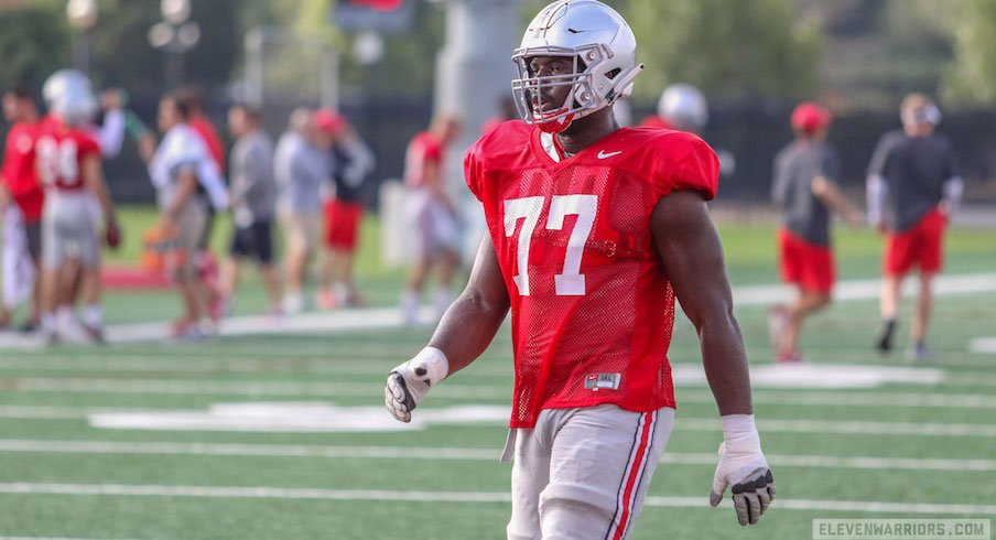 Nicholas Petit-Frere during 2018 fall camp.