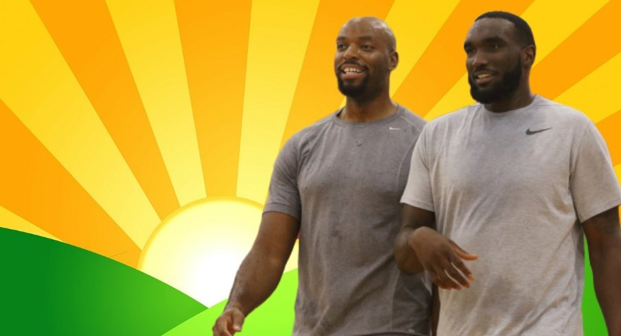 Ohio State basketball legends Dallas Lauderdale and Evan Ravenel