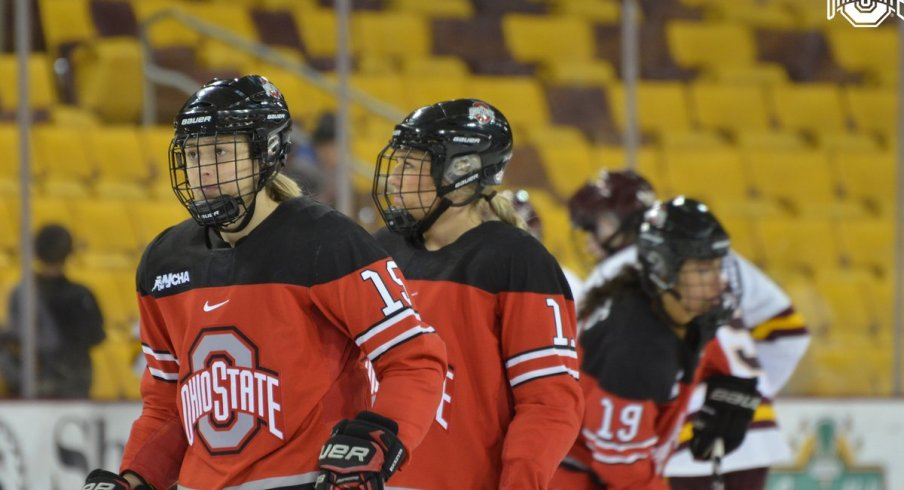 The women's hockey Buckeyes look to rebound at home against No. 2 Minnesota.