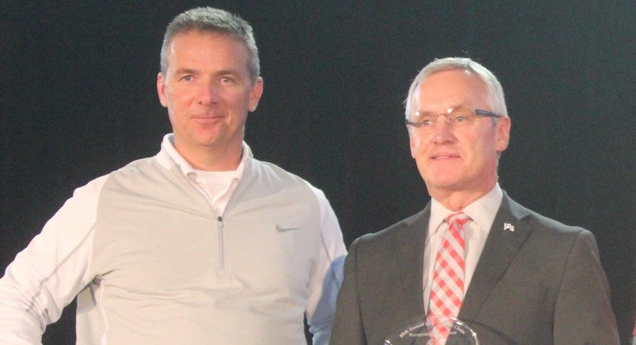 Urban Meyer and Jim Tressel in 2016
