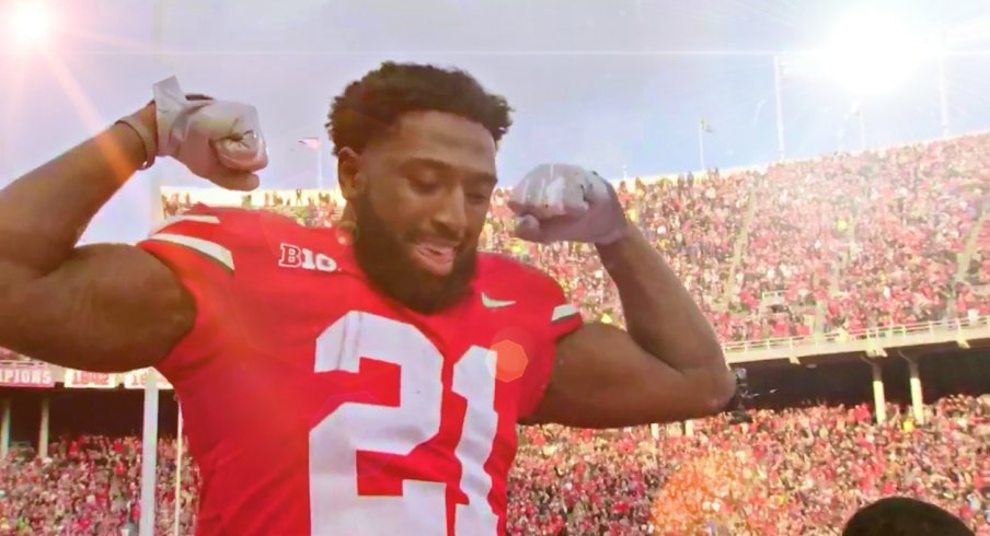 parris campbell flexing on Michigan, 2018