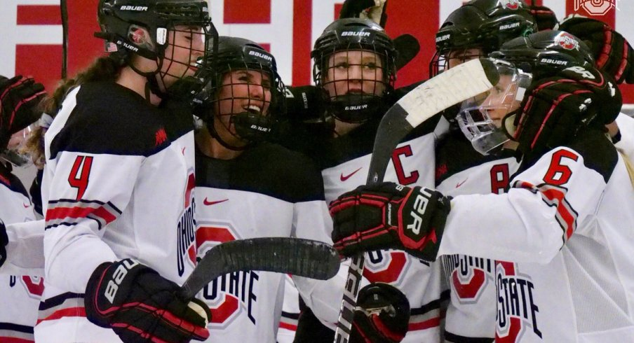 The Buckeye women's hockey seniors went out in style with a 5-1 win over Bemidji.