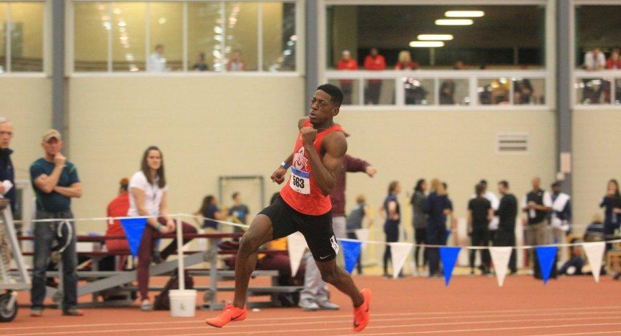 Nick Gray runs the 200m dash in Clemson