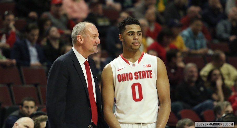 Thad Matta and D'Angelo Russell