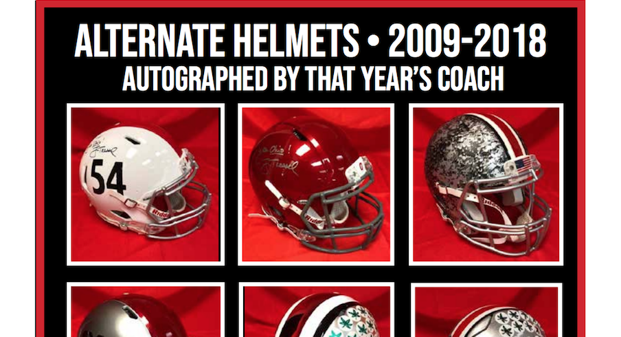 Alternate helmets will be up for auction.