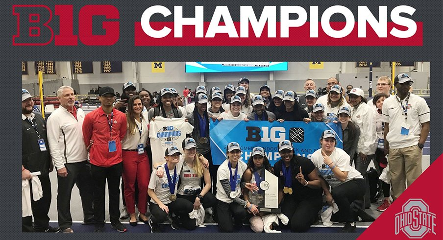 Ohio State's women's track and field team took home the Big Ten title on Saturday.