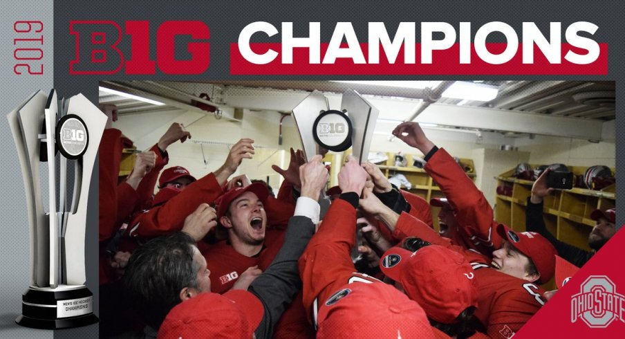 The Ohio State Buckeyes, your 2019 Big Ten Hockey champs