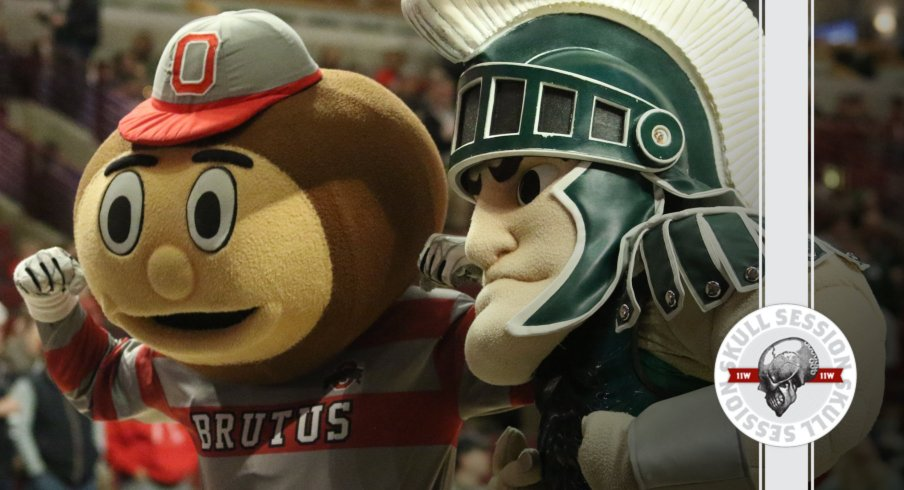 Brutus is ready to blast Sparty in today's Skull Session.