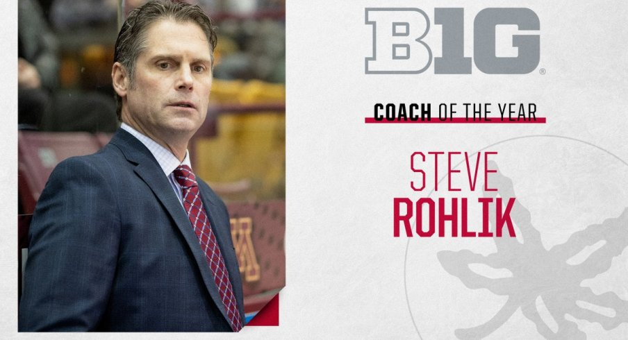 Steve Rohlik was a unanimous selection for his second straight Big Ten coach of the year honor.