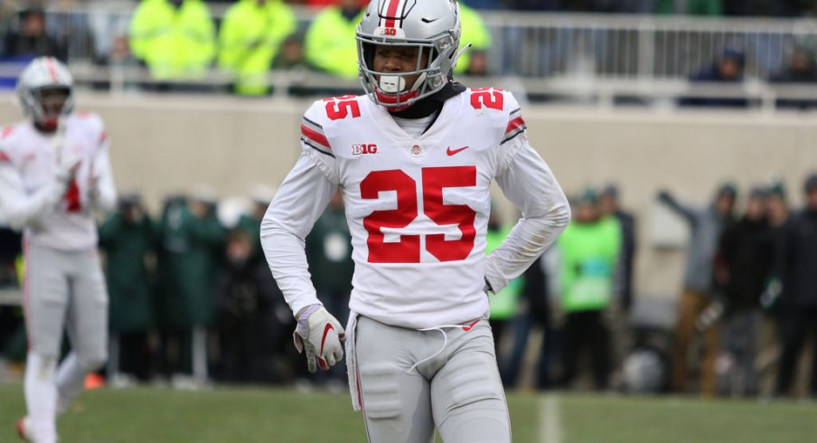 """Brendon White is the frontrunner to be named the starting """"Bullet,"""" Ohio State's newest hybrid position."""