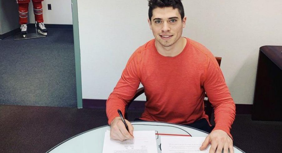 Buckeye captain Mason Jobst inked a pro deal with the New York Islanders.